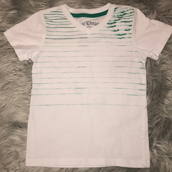 9ea744fc41fdf4 Epic Threads Shirts & Tops | 525 Green Striped Vneck Tee 4t | Poshmark